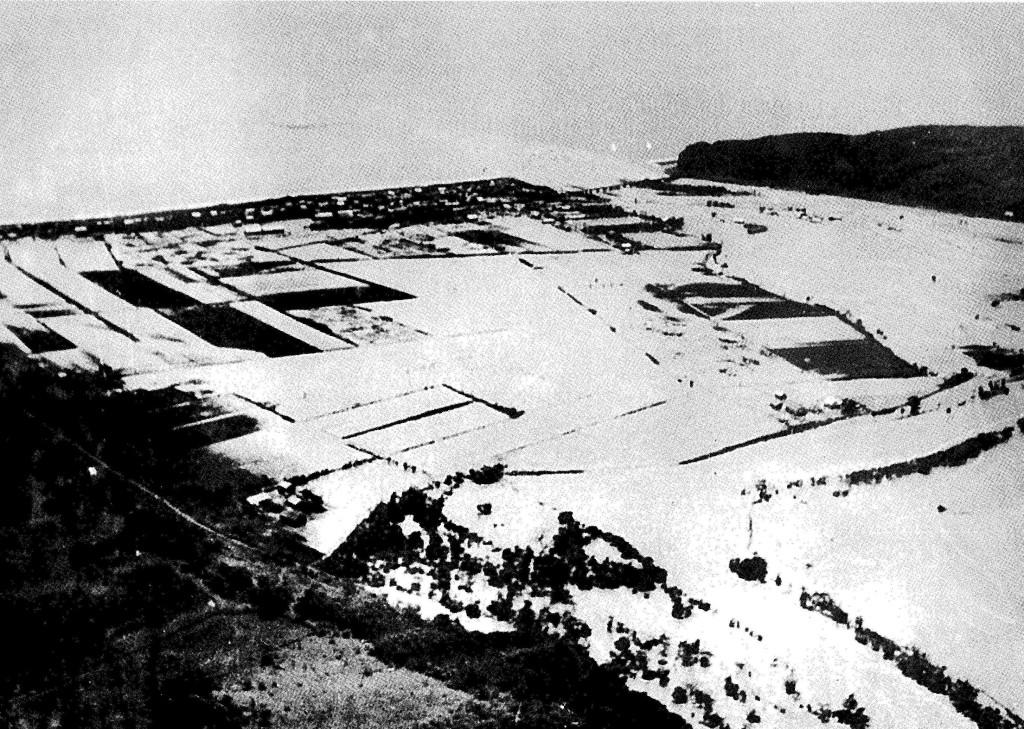 昭和30年新冠大水害 市街地の浸水状況