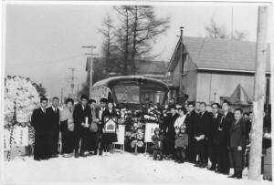 帯広市の昭和30年代の野辺送りの様子