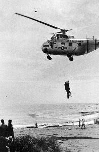 昭和30年大水害 米軍ヘリでの救助