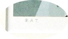 B.A.T.は「最適の刷り」で、原作者がつけるサイン