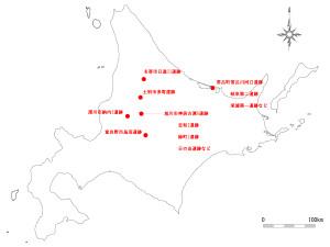 図6.押型文土器が出土した主な遺跡