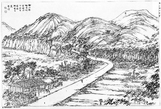 37甲_俄虫村字焼山旧道及び岩面眺望