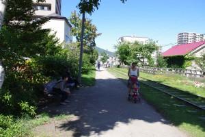 市民や観光客の憩いの場となっている(2015.9.17撮影)