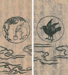 寺島良安編『和漢三才図会』正徳2年(1712)刊 右:日 左:月